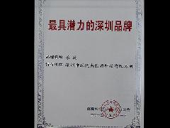 """2013年获得""""最具潜力的深圳品牌荣誉称号;"""
